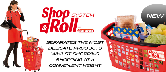hand basket shop & roll system
